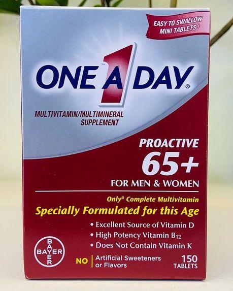 vien uong bo sung multivitamin one a day proactive 65 men women tren 65 tuoi cua my