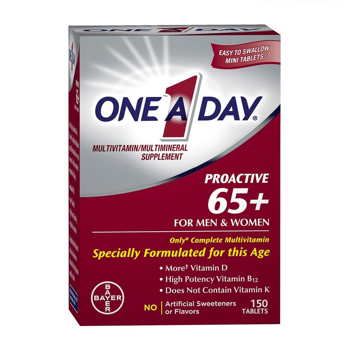 vien uong bo sung multivitamin one a day proactive 65 men women tren 65 tuoi