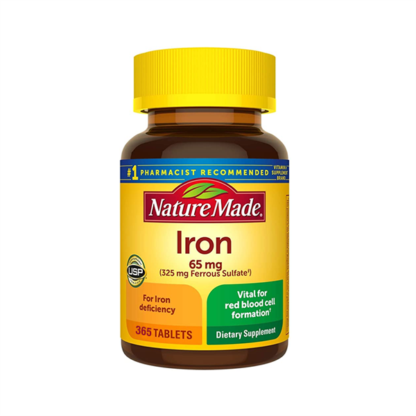 vien uong bo sung sat nature made iron 65 mg
