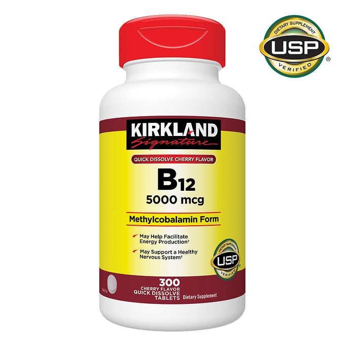 vien uong bo sung vitamin b12 kirkland signature 5000 mcg cua my