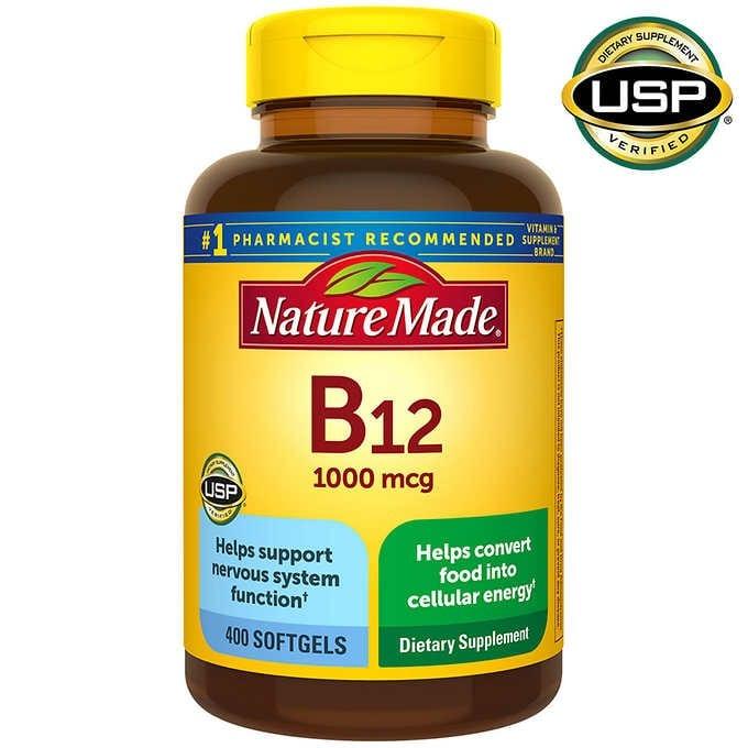 vien uong bo sung vitamin b12 nature made vitamin b12 1000 mcg 400 vien