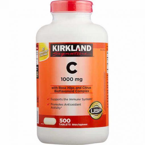 vien uong bo sung vitamin c 1000mg kirkland signature