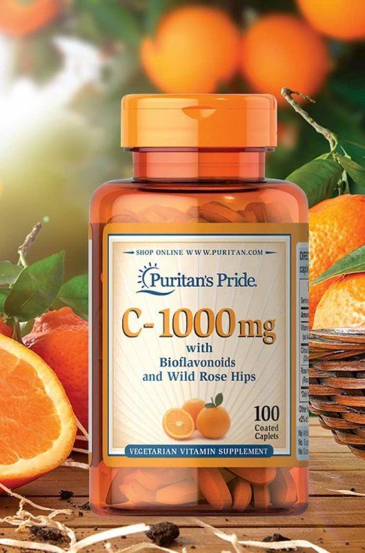 vien uong bo sung vitamin c 1000mg puritans pride cua my