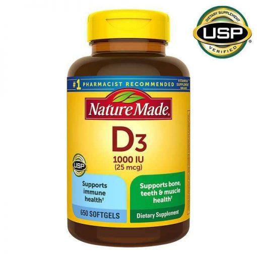 vien uong bo sung vitamin d3 nature made 1000 iu