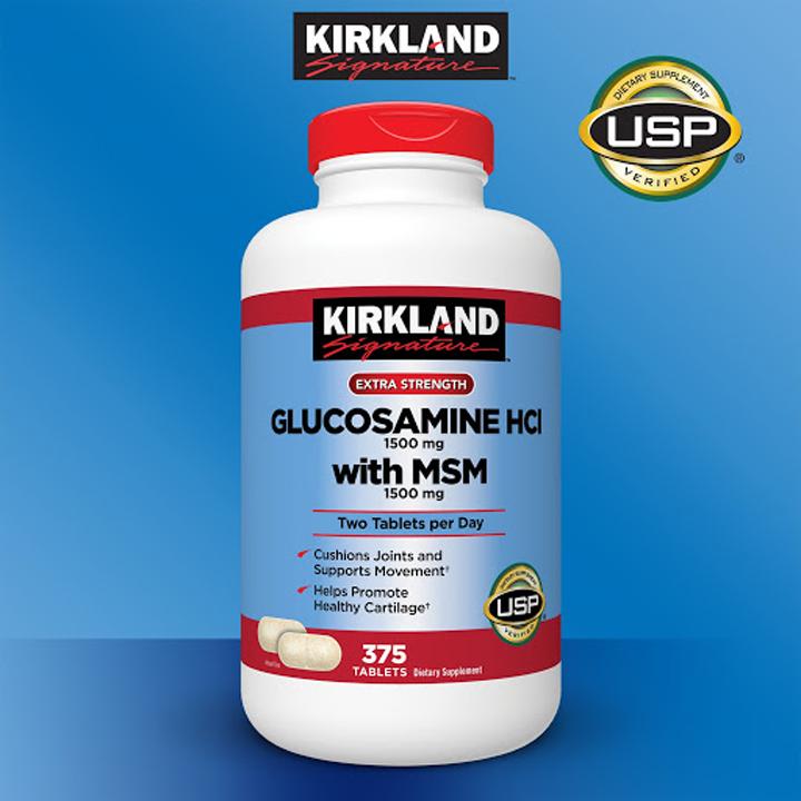 vien uong bo xuong khop kirkland glucosamine hcl 1500mg with msm 1500mg