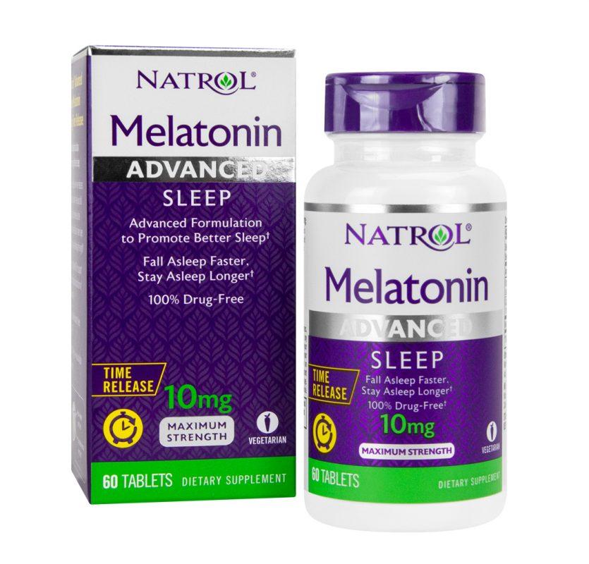 vien uong cai thien giac ngu natrol melatonin advanced sleep 10mg