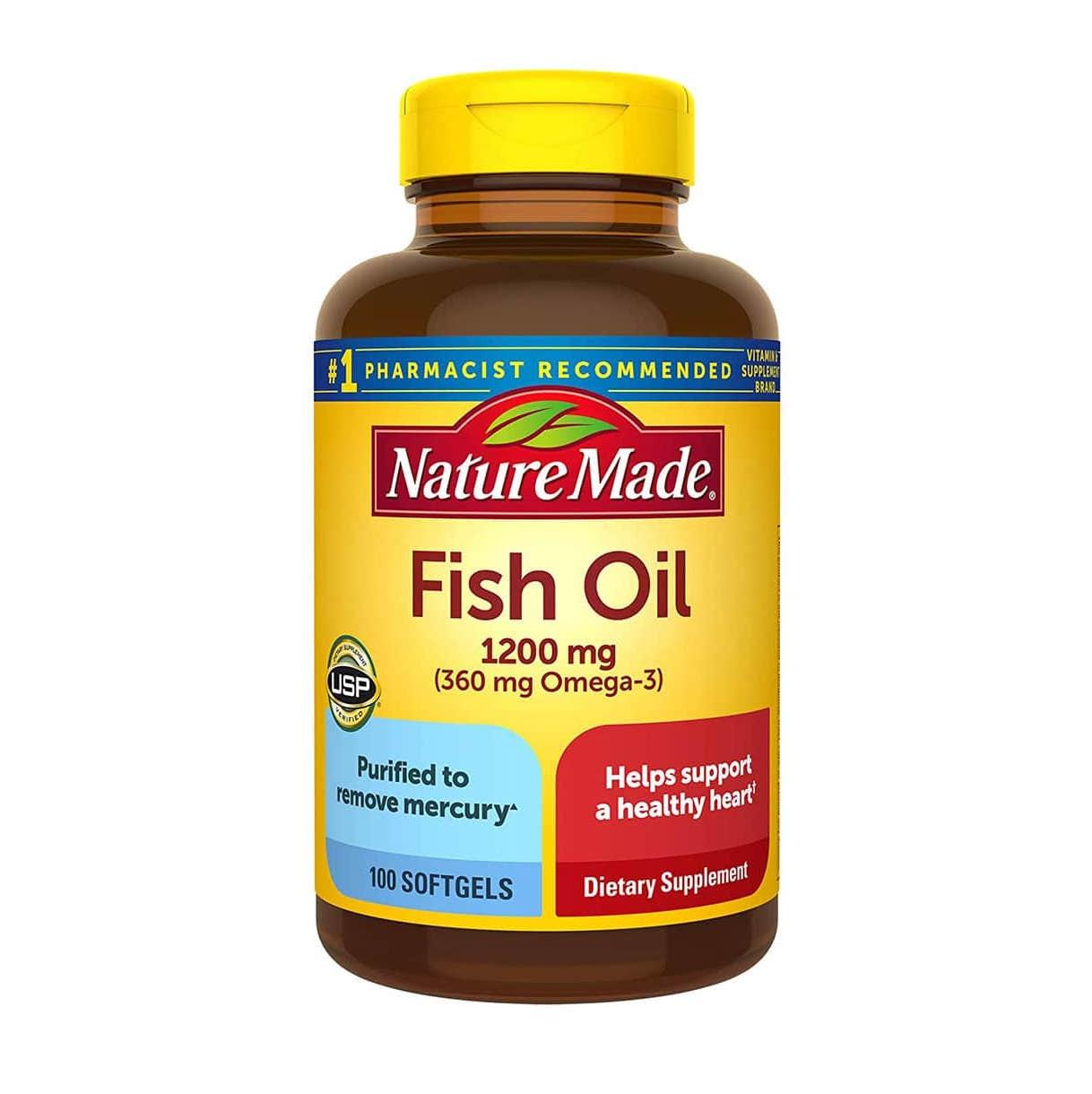 vien uong dau ca nature made fish oil 1200 mg 360 mg omega 3