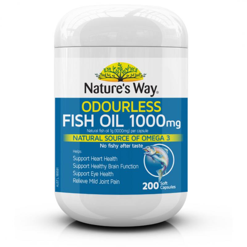vien uong dau ca natures way odourless fish oil 1000mg