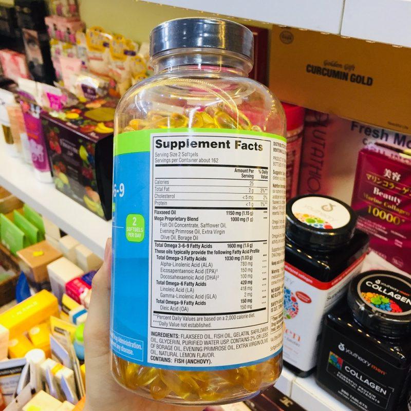 vien uong dau ca omega 3 6 9 supports heart health cua my