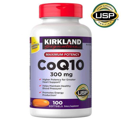 vien uong ho tro tim mach kirkland signature coq10 300 mg