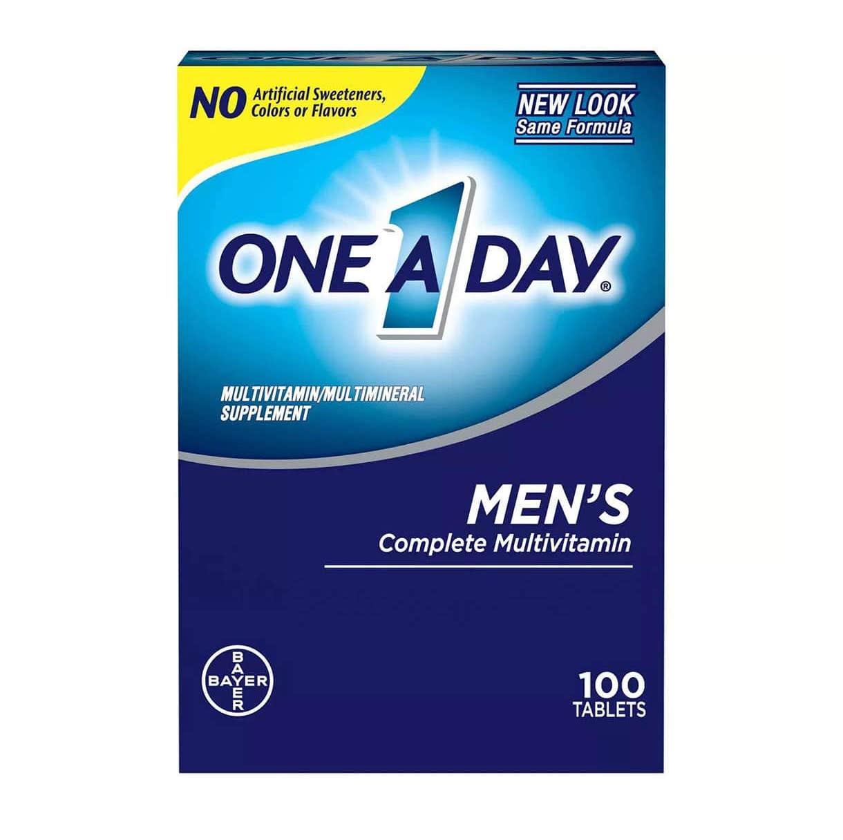 vien uong multivitamin men s one a day bayer 100 vien
