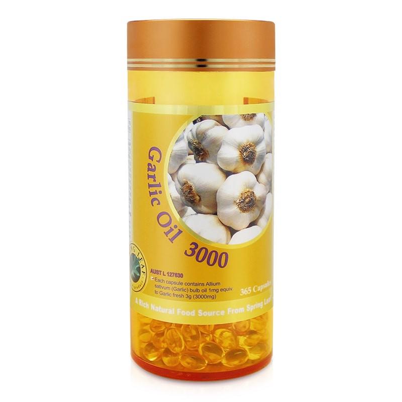 vien uong tinh dau toi spring leaf garlic oil 3000mg