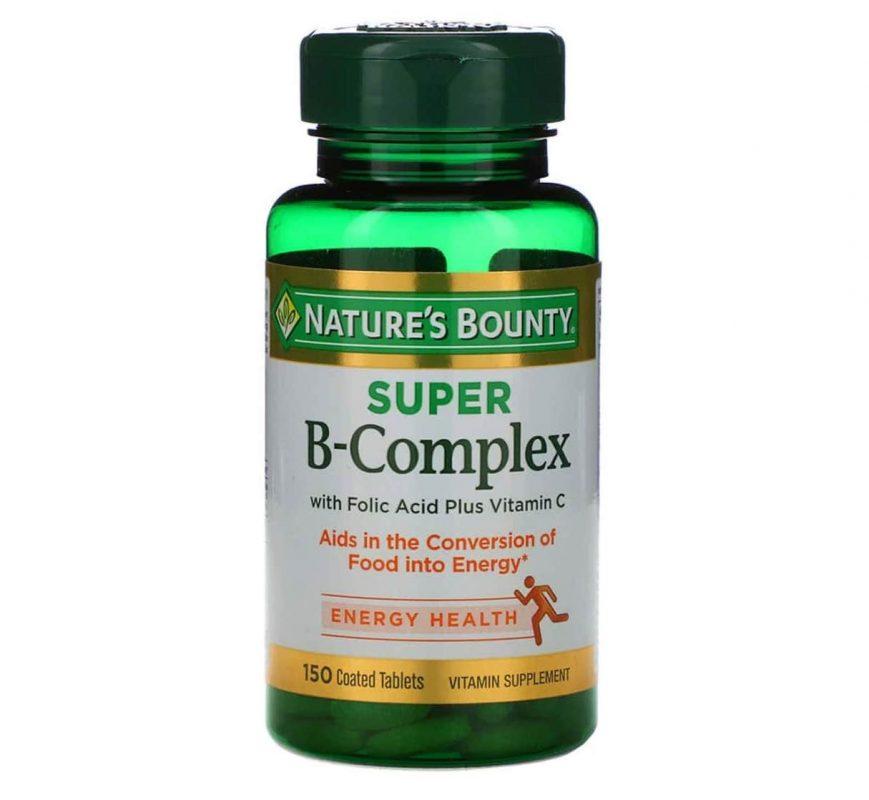vien uong vitamin b natures bounty super b complex