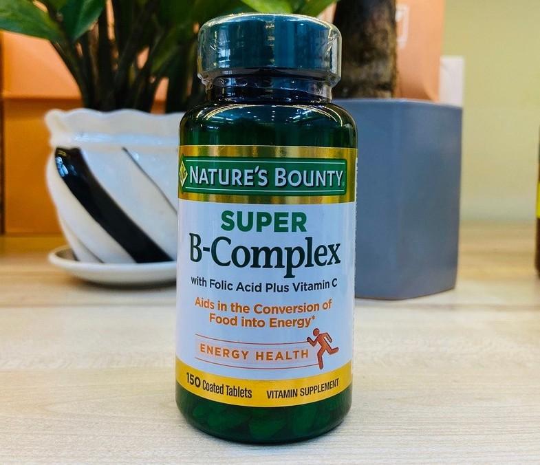 vien uong vitamin b natures bounty super b complex my