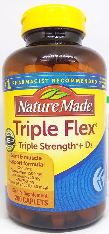 vien uong xuong khop nature made tripleflex triple strength d3