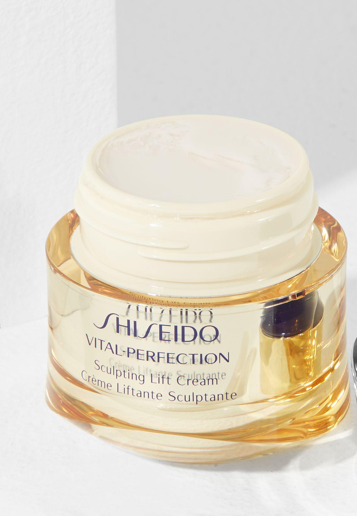 cach dung kem duong da nang co shiseido vital perfection sculpting lift cream