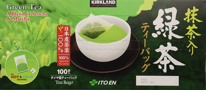 tra xanh kirkland green tea a blend of sencha matcha